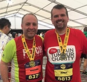 Andy completes the Manchester Half Marathon