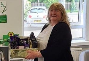 Winner Janet Penny with Prize Hamper