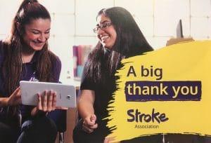 Stroke Thank You Card