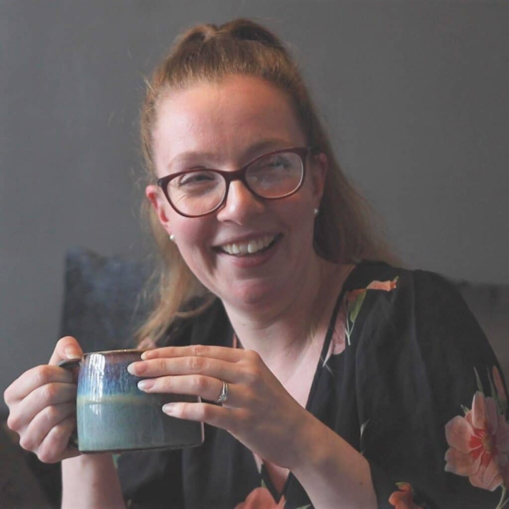 Melissa enjoying tea